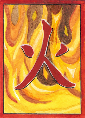 Japanese Rune Card: Fire