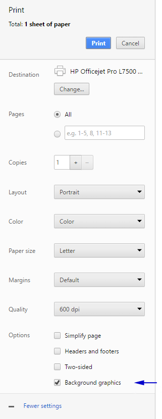 How To Print Background Colors